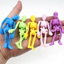 2019 novo 10 peça novidade engraçado anti-stress esqueleto brinquedos crianças festa favores suprimentos espremer alívio do estresse brinquedo do miúdo presente