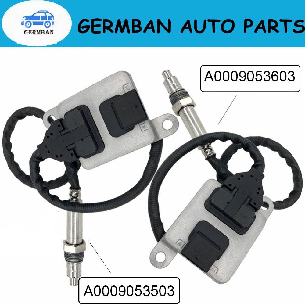 Novo Sensor De Nox A0009053603 2 pçs/lote Original + A0009053503 para MERCEDES-BENZ-W205 W166 W221 GLE350/400 ML 5WK9 6683D 5WK96682D