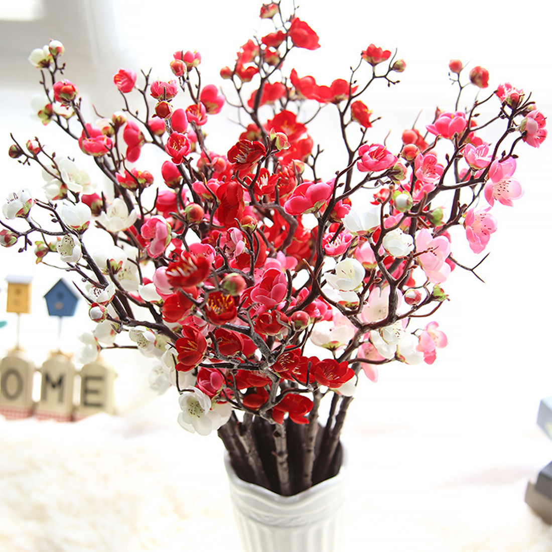 Results of top artificial flowers chinese in hairstyle2018 artificial flowers diy chinese plum blossom vivid wreath wedding party home decorations silk bouquet plum flower fashion flowers mightylinksfo