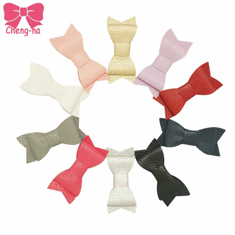Brief 3Inch Artificial Leather Hair Bow With Clip For Girls Faux Leather Hairpins Soft Kids Leather Hair Accessories10Pcs/lot велосипед stels navigator 490 md 2016