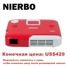 NIERBO Mini Projector Full 3D Portable Projector Wireless Battery Support 4K Android Wifi Bluetooth Home Theater