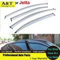 Coches Ventana Viseras Para VW Jetta 2012-2015 Sol protección contra la Lluvia Cubre Las Pegatinas de Coches de Estilo Toldos Refugios