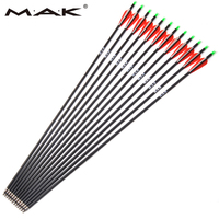 6 12 24 Pcs Carbon Arrow Length 30 Inches Spine 500 With Replaceable Arrowhead For Compound
