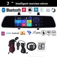 VODOOL 7 Inch Car DVR Bluetooth Android 5 0 Dvrs WIFI GPS 1080P Video Recorder Camera