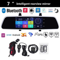 VODOOL 7 Inch Car DVR Bluetooth Android 5 0 Dvrs WIFI GPS 1080P Video Recorder Camera