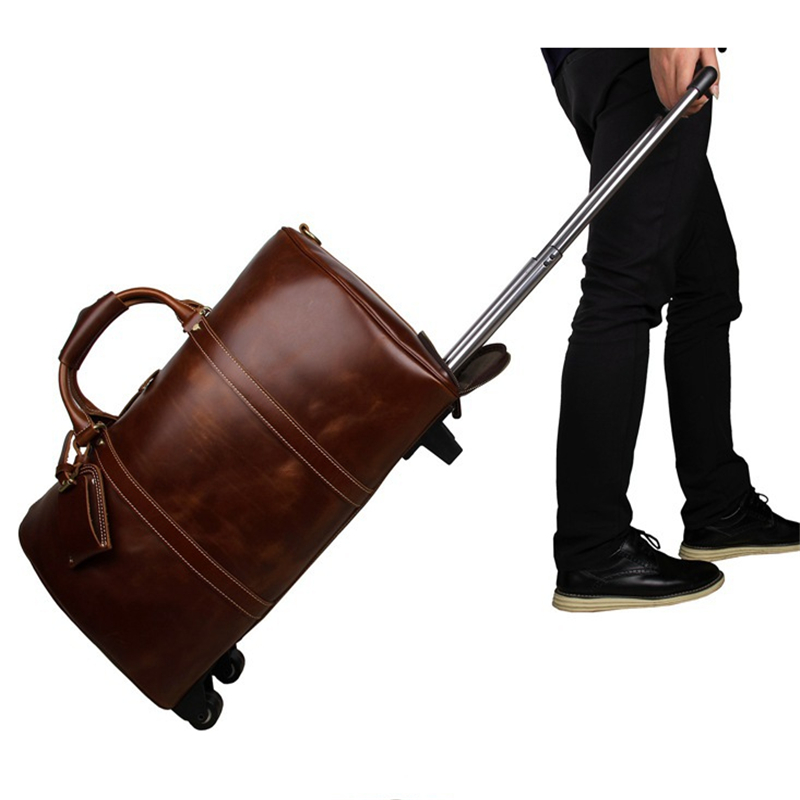 Aliexpress.com : Buy Baigio Men Genuine Leather Travel Bag Large ...