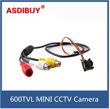 4.3mm lens CMOS 650TVL mini CCTV Camera audio video night vision analog security camera