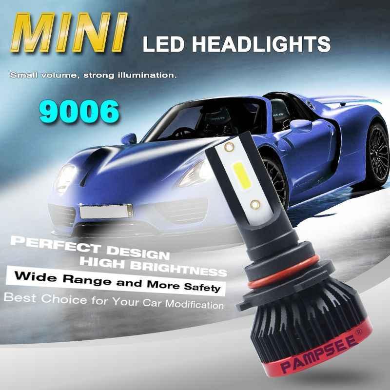 2Pcs Super White Mini P6 Car LED Headlight Bulbs DOB Chip 10000LM 6000K H1 H3 H4 H7 H11 9005 9006 Auto Fog Lights Car Styling