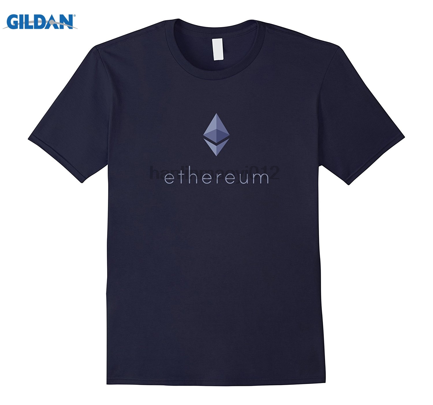 GILDAN Mens Ethereum Spread the Ether Love - Bitcoin Blockchain glasses Womens T-shirt