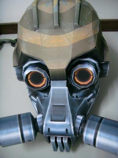 Gas Mask Paper Model