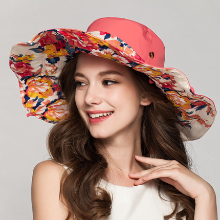 364f1480fa30b New Fashion Bohemian Style High Quality Cloth Summer Sun Hat For Women Hat  Large Visors Beach Hat Brand Sun Cap-in Sun Hats from Women's Clothing & ...