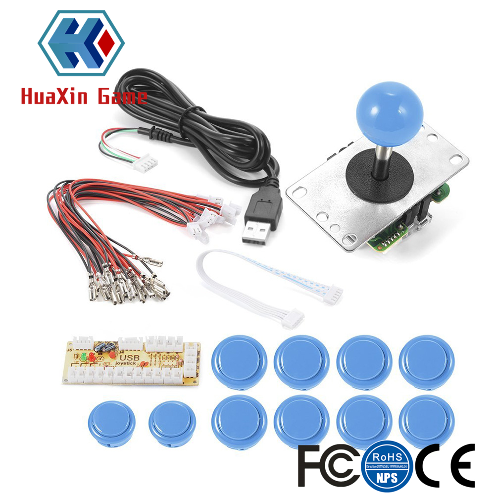 DIY Arcade Kit Zero Delay USB Encoder PC high quality 4/ 8 Joystick & push button for Mame Jamma PC Fighting Game raspberry pi