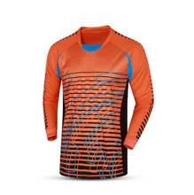 2017 Uniformes de Futebol Goleiro Esponja Terno Protetor Camisa goleiro  Porteiros Camisa Calças Conjuntos de Treinamento bd785f618d09a