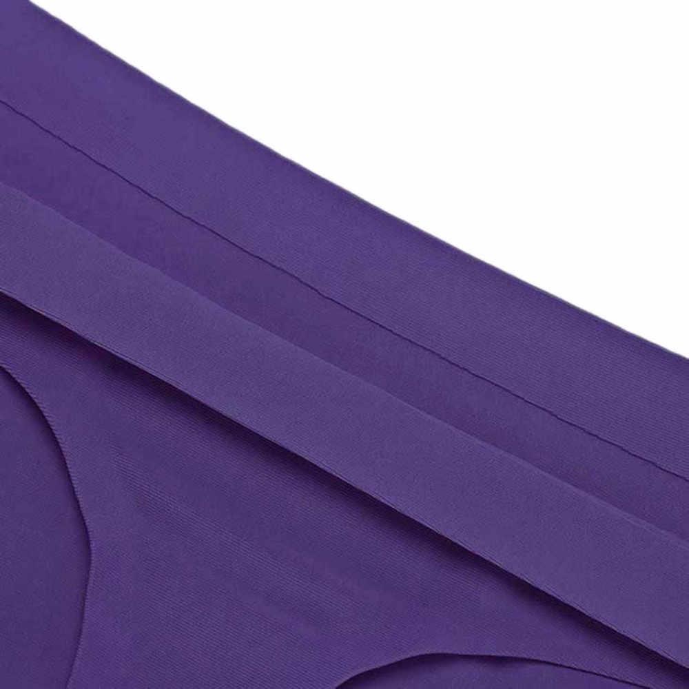 Feitong الساخن المرأة غير مرئية سراويل الجليد ملخصات الحرير بارد أطقم العشير سلس الملابس الداخلية مثلث ساحات كبيرة الإناث ملخصات