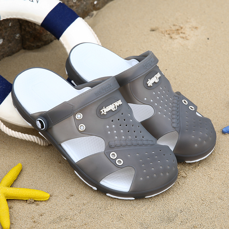 Men Sandals Summer Mens Slippers Croc Shoes Beach Leisure Breathable Home Slippers Herr Schuh Flip-Flops Zapatos