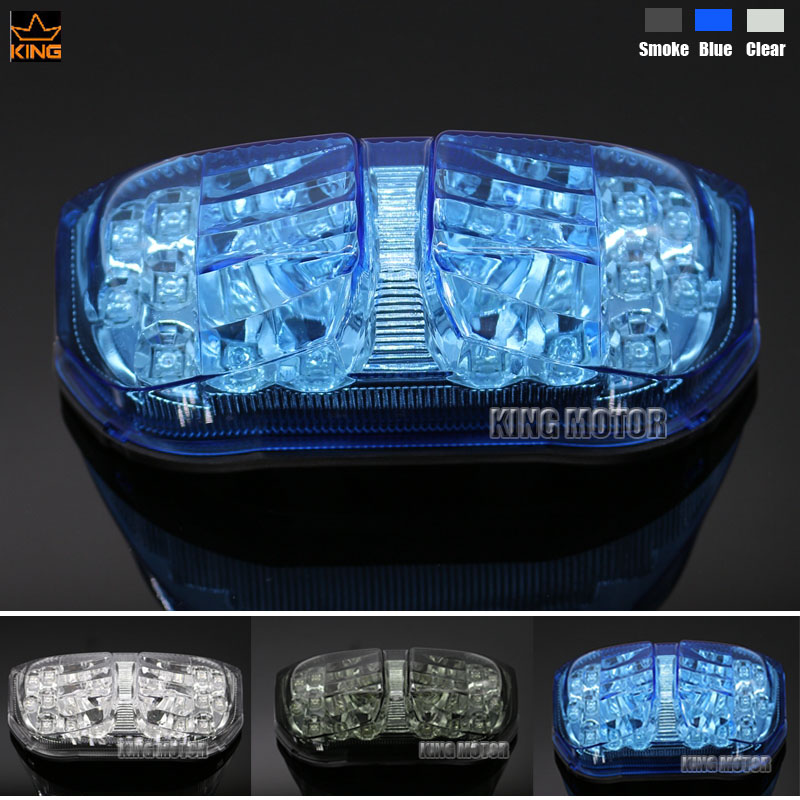 For YAMAHA FZ1 FAZER 2006-2012 F28 FAZEA 2006-2012 Motorcycle Accessories Integrated LED Tail Light Turn signal Blue aftermarket free shipping motorcycle parts eliminator tidy tail for 2006 2007 2008 fz6 fazer 2007 2008b lack