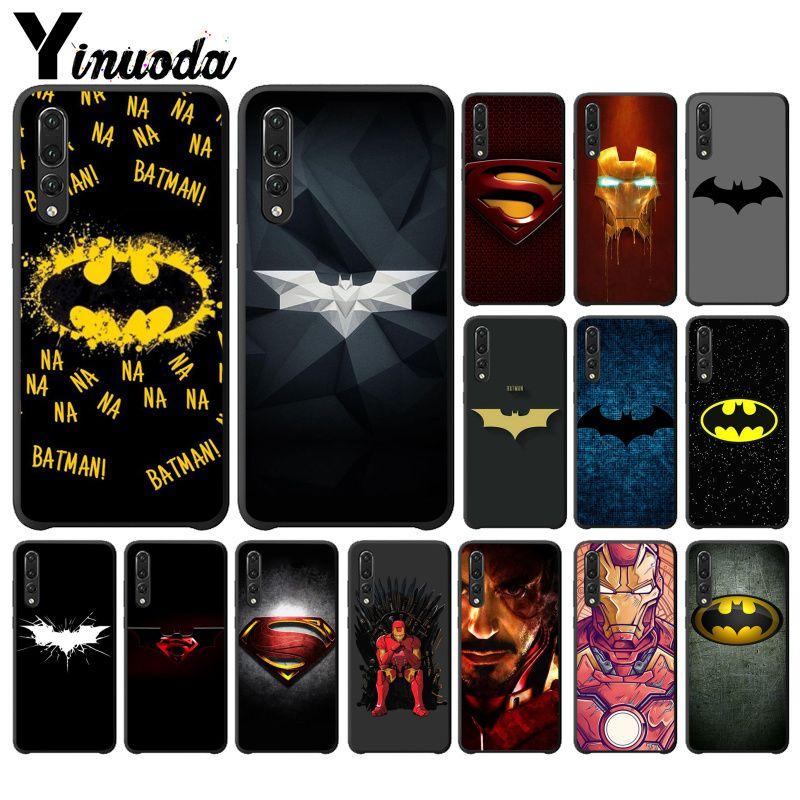 Yinuoda superhero Superman Cool Batman Logo DIY Protector Case for Huawei P10 plus 20 pro P20 lite mate9 10 lite honor 10 view10