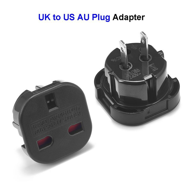 200pcs American Australia Plug Adapter UK British To US AU AC Travel Power Adapter Plug Electrical Socket Outlet