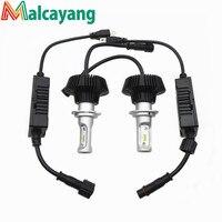 All In One Newest S7 2X 6400LM H7 LED Headlight Kit Beam Bulbs Hi Lo Beam