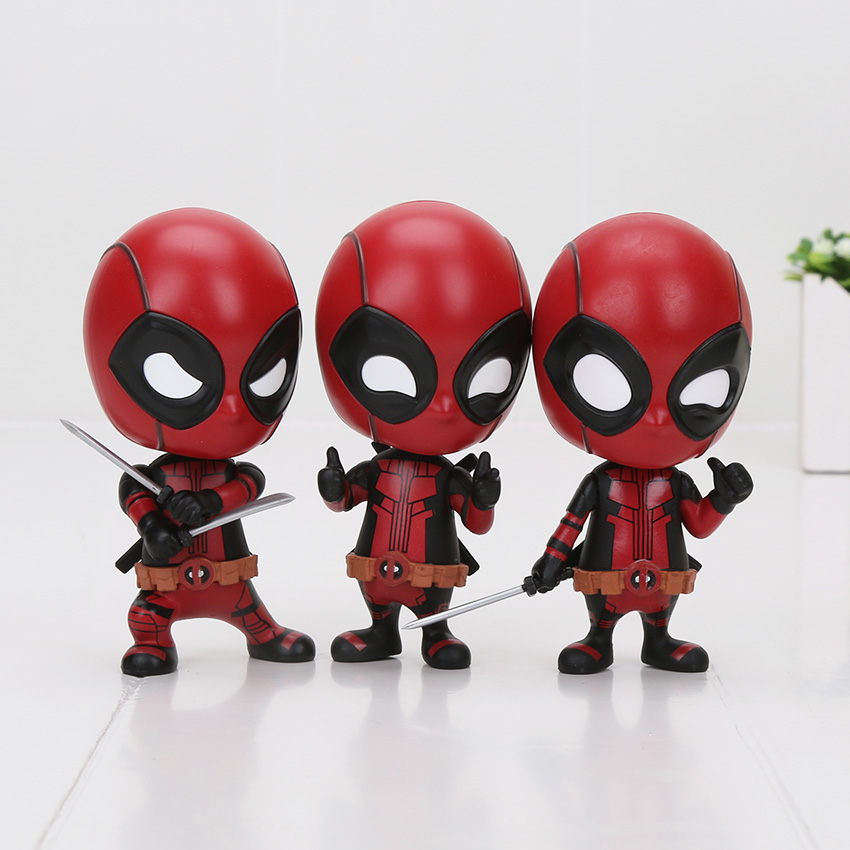 7 Styles Deadpool Spider-man Black Panther Bobble Head Shaking Avengers Pvc Action Figure Collection Model Kids Doll Toy Gifts Toys & Hobbies