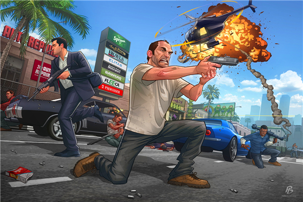 Custom Canvas Art Grand Theft Auto Poster GTA San Andreas Game Wallpaper Grand Theft Wall Stickers Mural Home Decoration #753#
