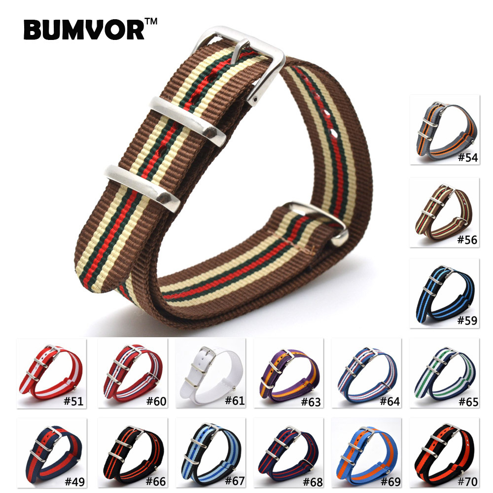 1pcs Wholesale Lot Stripe Retro 20 mm Strong Military Army nato fabric Nylon Watch Woven Straps Bands Buckle 20mm watchbands wholesale stripe cambo solid black watch 22 mm multi color army military nato fabric nylon watchbands strap bands buckle 22mm