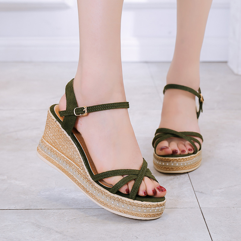 Fairy music Sale Through Sandals 2019 New Summer Fish Mouth Hair with A Thin Super High Heel Shoes