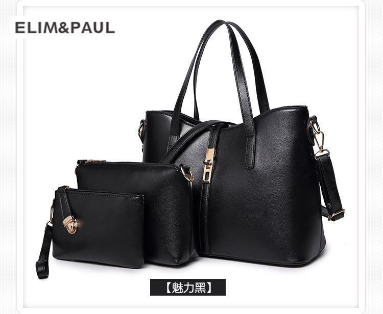 ELIM&PAUL Female bag sets bags female Europe and the United States fashion handbag Messenger shoulder bag 3 piecesELIM&PAUL Female bag sets bags female Europe and the United States fashion handbag Messenger shoulder bag 3 pieces