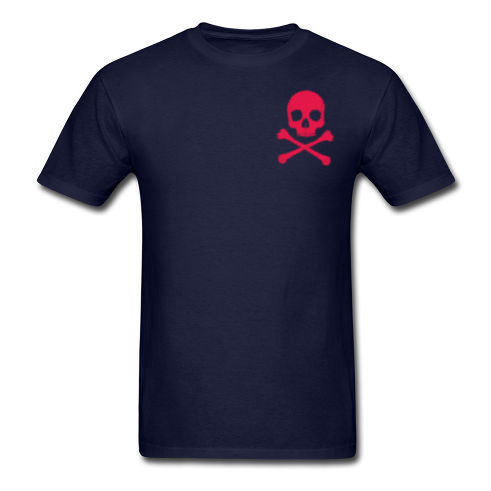 Poison Men T Shirt 2018 Discount Red Skull Printed T-shirts Short Sleeve Navy Blue Tshirt Cotton High Quality Tops Team Tees