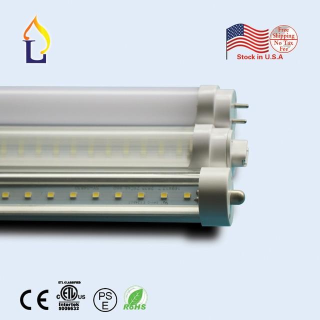 15 Pack Etl List T8 Led Light 18w 48w 4ft 5ft 6ft 8ft Under
