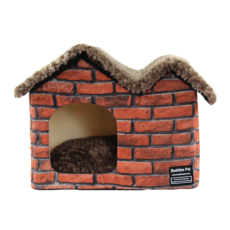 Gomaomi Warm Indoor Soft Kennel Pet Dog House Beds with ...