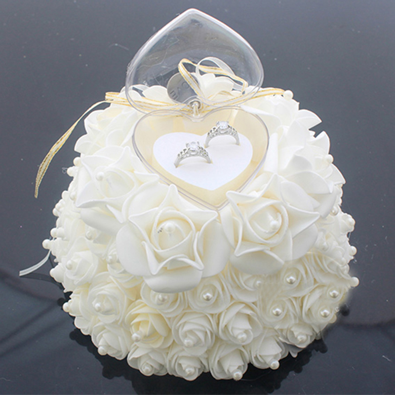 2017 cake shape rose flowers ring box romantic wedding
