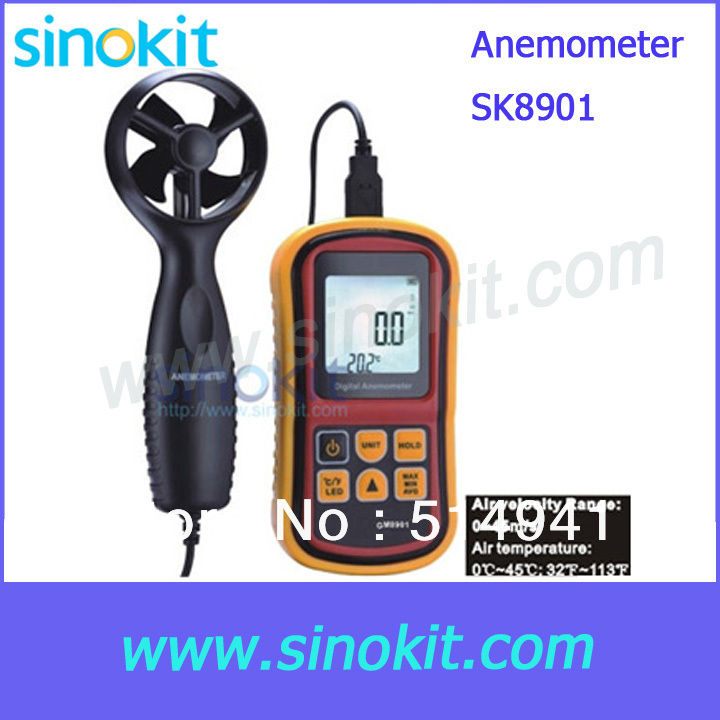 Wholesales Air Velocity and Air Temperature Anemometer Meter SK8901
