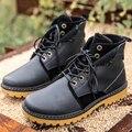 Novo Outono Inverno de Alta Qualidade Dos Homens de Estilo Retro Moda Masculina Martin Botas Altas Ajuda Na Moda Trabalhador Bota Lacing Botas Zapatos G449