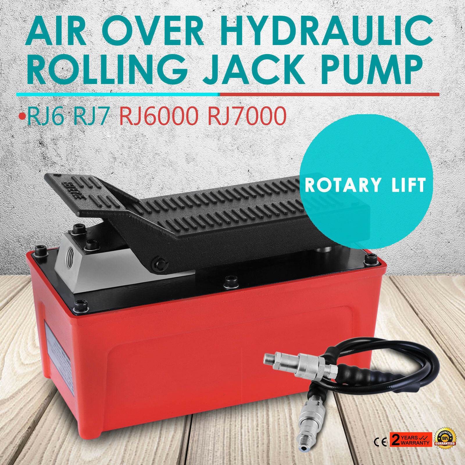 OEM ROLLING JACK PUMP AIR OVER HYDRAULIC PUMP ROTARY LIFT 10000PSI 1/2gal Hot