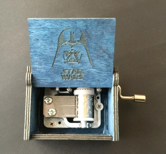 Star Wars Beauty and the beast Wooden Music Box gift for Christmas happ birthday new year gift children gift шкатулки trousselier музыкальная шкатулка wooden box жираф
