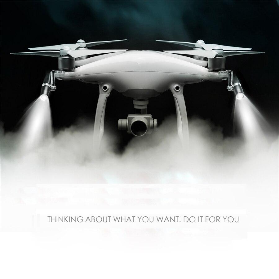 397af5a4f245c8 LED Lampe Lumière pour DJI Phantom 4 4 Pro Plus Drone Accessoires 360  Degrés Tourbillonnant Vol De Nuit Lumière de Recherche dans Drone  Accessoires Kits de ...
