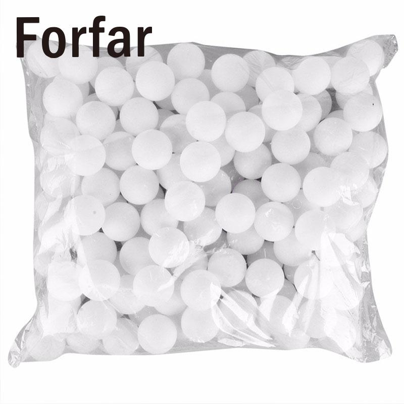 Forfar 150 Pcs 38mm White Beer Pong Balls Balls Ping Pong Balls Washable Drinking White Practice Table Tennis Ball ...