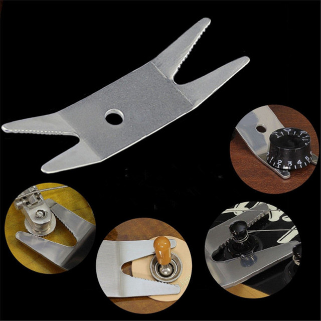 Zebra Guitar Bass Steel Multi-tool Spanner Wrench Knob Jack Tuner For Tightening Pots Switches For Bass Guitar Parts Accessories