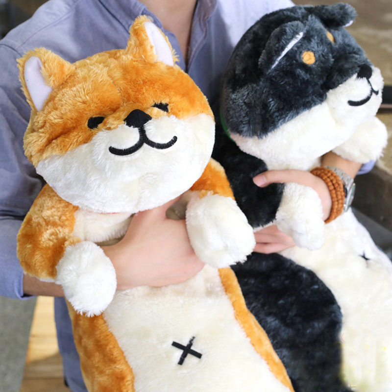 Grande taille chien akita shiba inu husky en peluche peluche 80 cm drôle mignon peluches 1 pcs