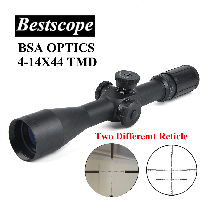 BSA OPTICS TMD 4-14X44 FFP Hunting Riflescope First Focal Plane Glass Mil Dot Reticle Hunting Scope Sniper Scope Tactical Rifle цена