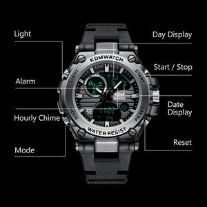 Image 4 - Relogio Masculino KDM Fashion Men Sport Watch 2019 Male LED Digital Quartz Wrist Watches Mens Top Brand Luxury Digital Watches