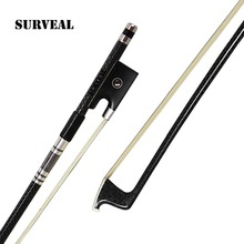 Professional Carbon fiber Violin Bow  Best Elastic Silver Mounted Musical Instrument player,Size 4/4 3/4 1/2 1/4, Free shipping