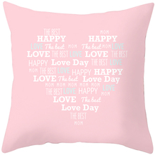 цена на Happy mother's day pillowcase l love mom pillow cases 45*45 cm decorative pillow cover gift to mother surprise to mother