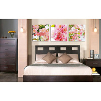 Fashion Pink Flowers Triptych Diamond Painting Resin Square Drill Embroidery Modern Home Decoration Painting Artificials WL008