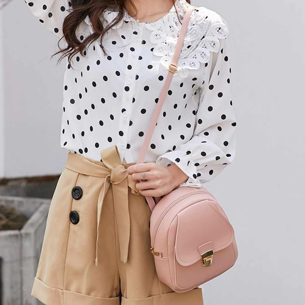 2019 nueva chica auriculares agujero mochila colgada estudiante hombro bolsas de teléfono móvil bolso Borsa a tracolla da donna Dropshipping. exclusivo. #40