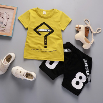 Newborn T-shirts+Shorts Pants 2pcs Set For Baby Boy