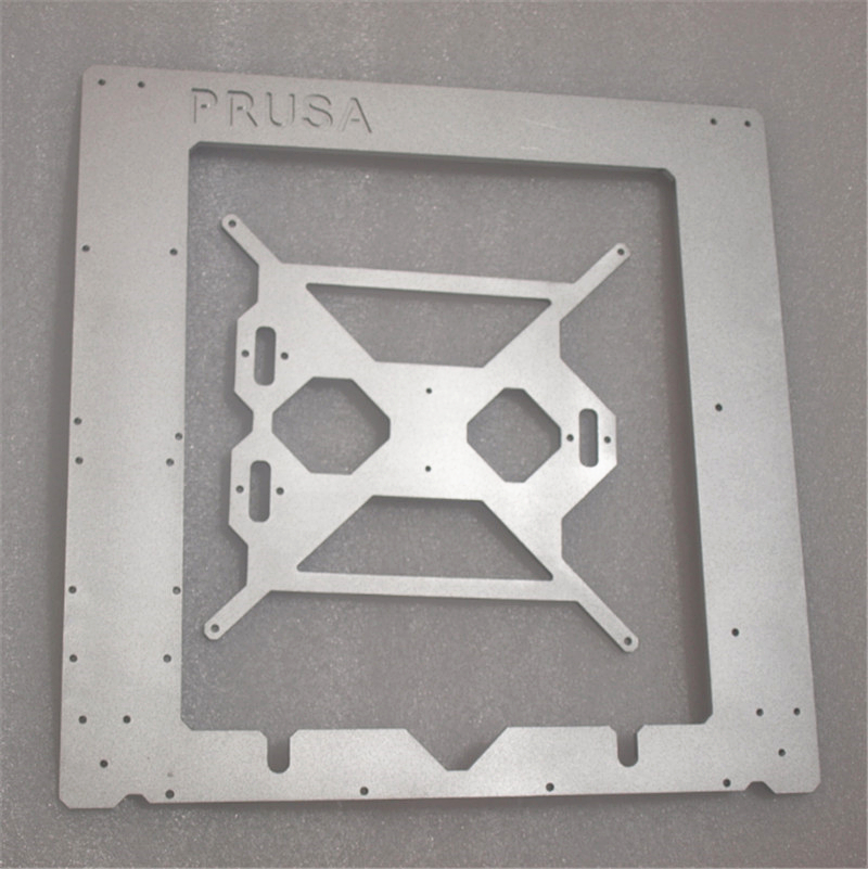 Reprap Prusa i3 MK2 Clone frame silver color aluminum frame kit 6mm thickness made by CNC