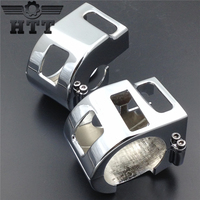 Motorcycle Parts Chrome Switch Housing Cover For Yamaha V Star XVS 650 Classic Silverado Models