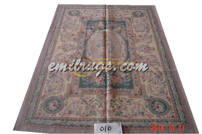 Tapis fait main Vintage tapis pour salon Aubusson tapis laine tricot tapis carré tapis